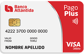 Tarjeta de Débito Visa Pago Plus